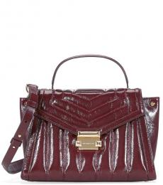 Michael Kors Oxblood Whitney Quilted Small Satchel