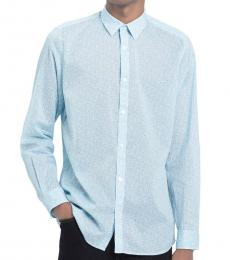 Light Jade Regular-Fit Floral Shirt