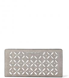 Pearl Grey Studded Wallet