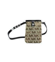 Michael Kors Black Canvas Belt Bag