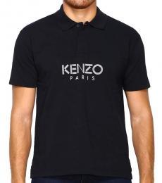 Kenzo Black Logo Solid Polo