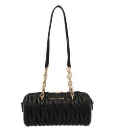 Black Bauletto Medium Shoulder Bag