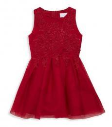 Little Girls Red Sleeveless Dress