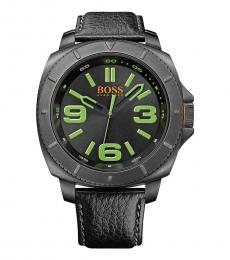 Hugo Boss Black Sao Paulo Leather Watch