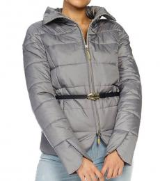 Cavalli Class Grey Quilted Jacket