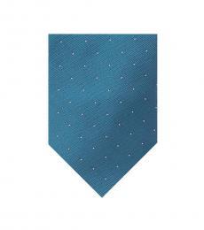 Aqua Modern Pindot Tie