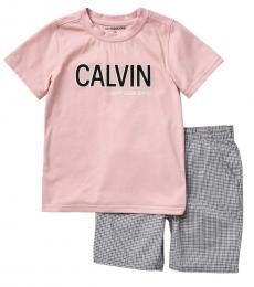 Calvin Klein 2 Piece T-Shirt/Shorts Set (Little Boys)