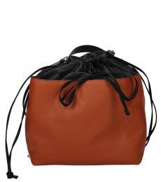 Marni Black/Brown Drawstring Large Backpack
