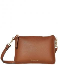 Brown Logo Medium Crossbody