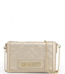 Love Moschino Pale Gold Box Chain Small Crossbody