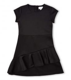 BCBGirls Girls Black Neoprene Asymmetrical Dress