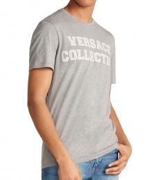 Versace Collection Grey Melange Collegiate Logo T-Shirt