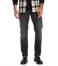 Diesel Dark Grey Straight Leg Jeans