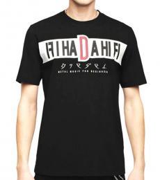 Diesel Black Print Graphic T-Shirt