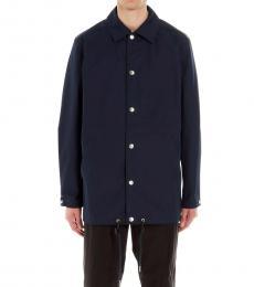 Kenzo Navy Blue Logo Button Jacket