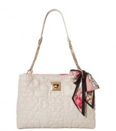 Betsey Johnson Stone Heart Quilt Small Tote