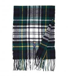 Ralph Lauren Multi-Color Polo Bear Tartan Plaid Scarf