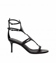 Giuseppe Zanotti Black Open Toe Heels
