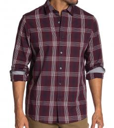Michael Kors Cordovan Abner Plaid Classic Fit Shirt