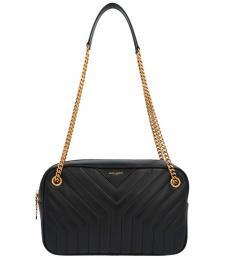 Saint Laurent Black Joan Large Shoulder Bag