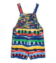 Stella McCartney Girls Multicolor Striped Playsuit