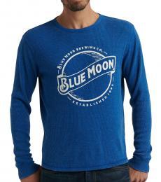 Lucky Brand Dark Blue Long-Sleeve Moon T-Shirt