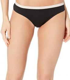 Emporio Armani Black Basic Cotton Thong