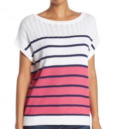 Multi Color Colorblock Sweater Top