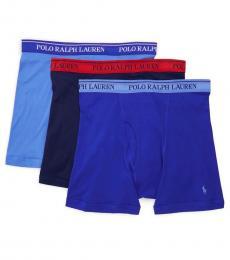 Ralph Lauren Blue 3-Pack Classic-Fit Boxer Briefs
