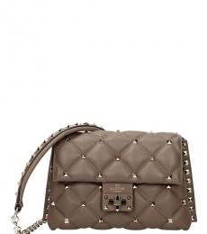 Taupe Studded Small Crossbody