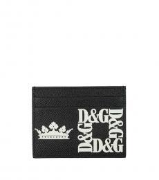 Dolce & Gabbana Black Crown Logo Card Case