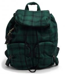 See by Chloe Dark Green Plaid Large Backpack