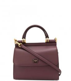 Dolce & Gabbana Dark Purple Sicily Small Satchel