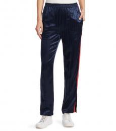 Rag And Bone Night Blue Striped Track Pants