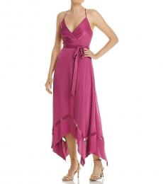 Vivid Viola Handkerchief Hem Evening Dress