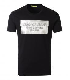 Black Embossed Logo T-Shirt