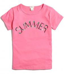 J.Crew Girls Pink Summer Graphic T-Shirt