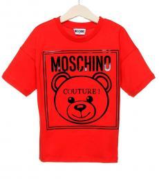 Moschino Boys Red Logo T-Shirt