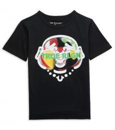 True Religion Little Boys Black Infrared Smiling Buddha T-Shirt
