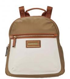 Calvin Klein Neutral Combo Belfast Dressy Medium Backpack