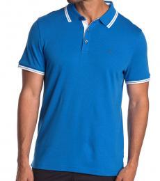 Michael Kors Blue Greenwich Cotton Polo