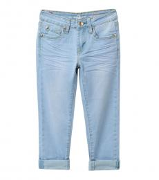 7 For All Mankind Girls Ocean Breeze The Ankle Skinny Jeans