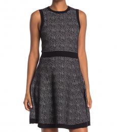 Kate Spade Black Mod Plaid Sweater Dress