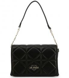 Love Moschino Black Quilted Medium Shoulder Bag