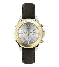 Versace Brown Silver Dial Watch