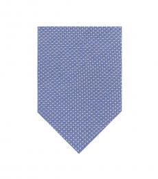 DKNY Blue Micro Polka Dot Tie