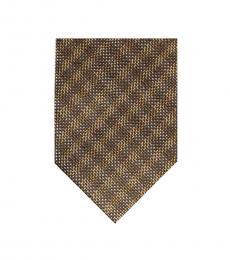 Tom Ford Brown Checks Tie