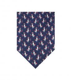 Salvatore Ferragamo Dark Blue Captain Duck Print Tie