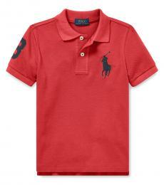 Ralph Lauren Little Boys Nantucket Red Mesh Polo