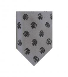 Grey Logo Medallion Tie